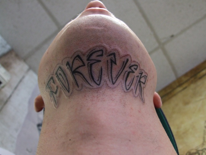 under chin Tattoos Forever!!!