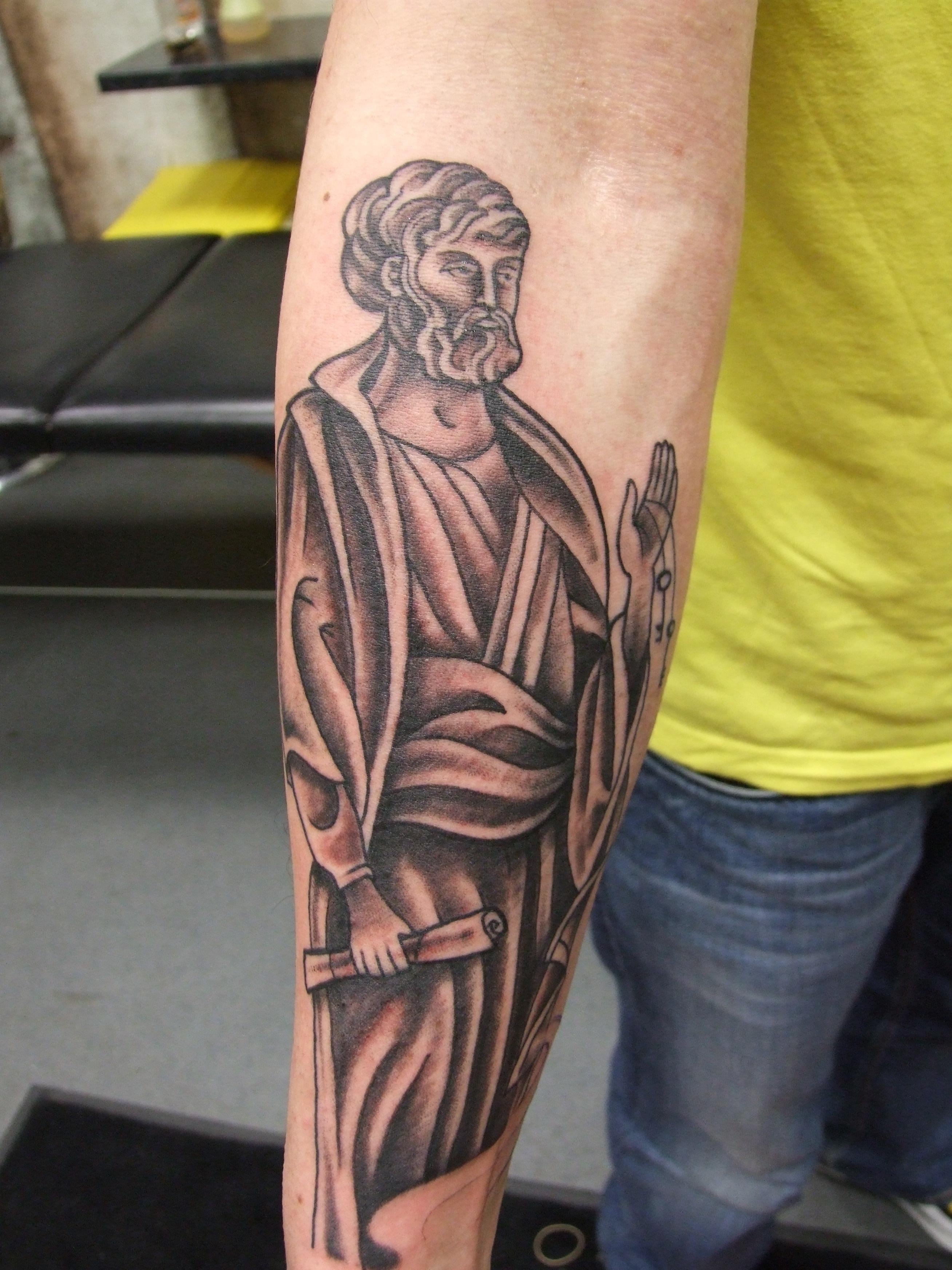 Saint peter tattoo for Tattoo shops in stl