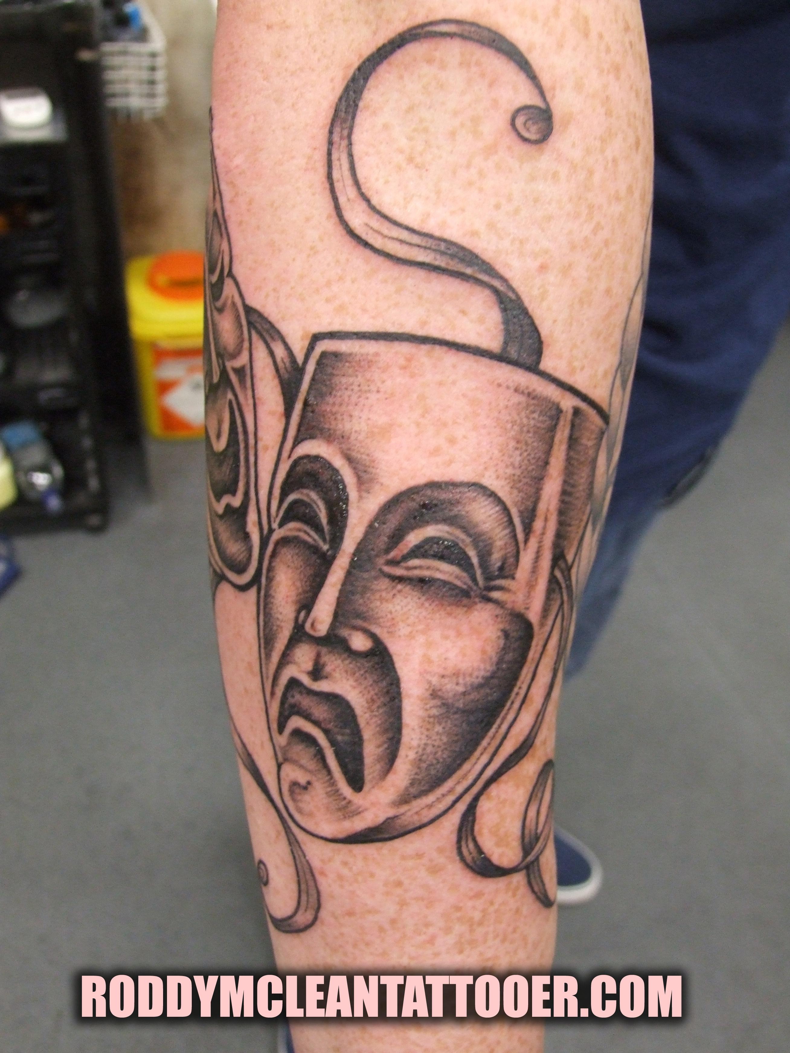 Happy and sad face masks happy and sad face tattoos - Image Image