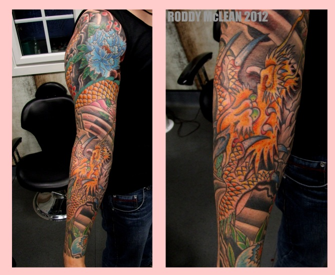 Golden Dragon Sleeve