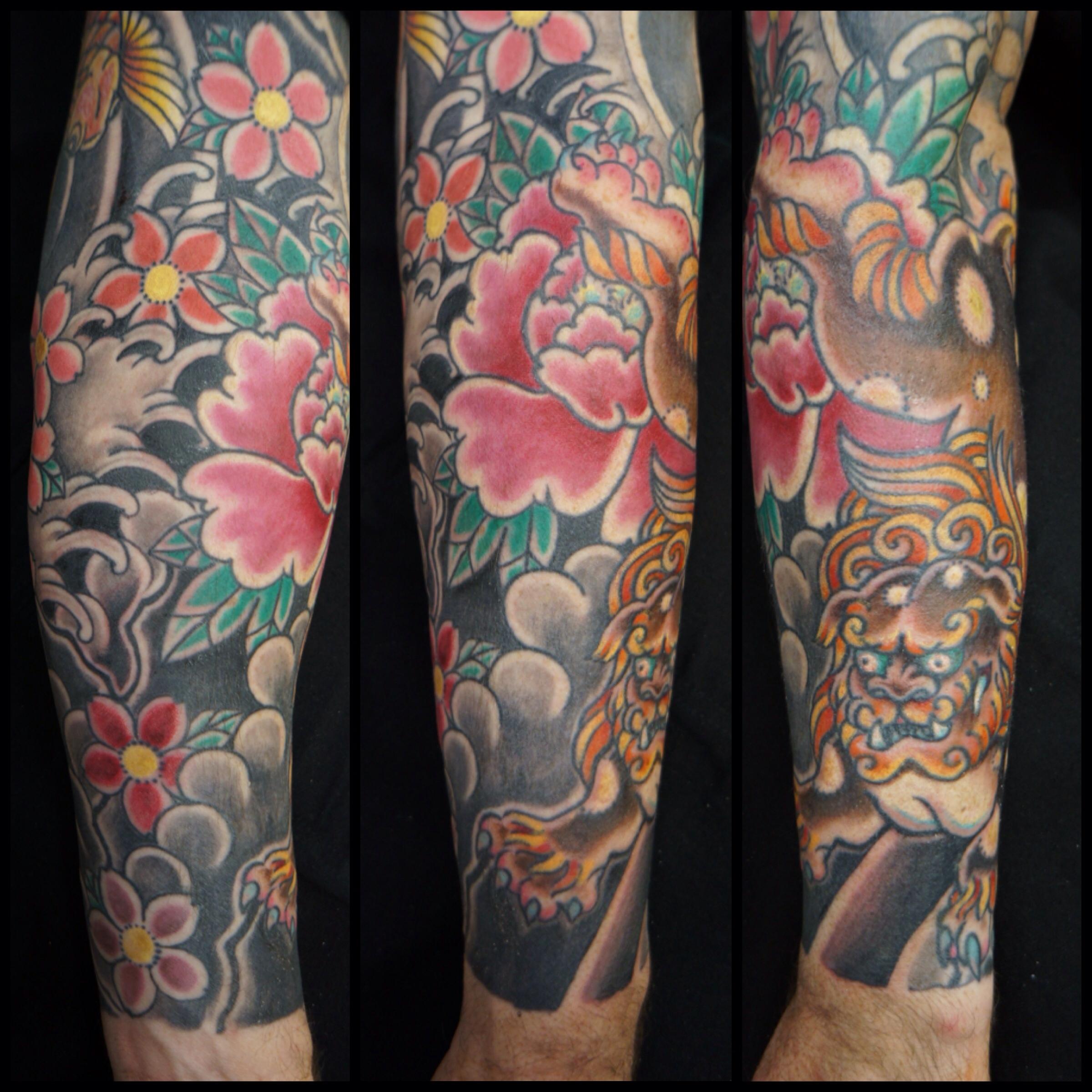 foo dog sleeve lower arm roddy mclean tattooer