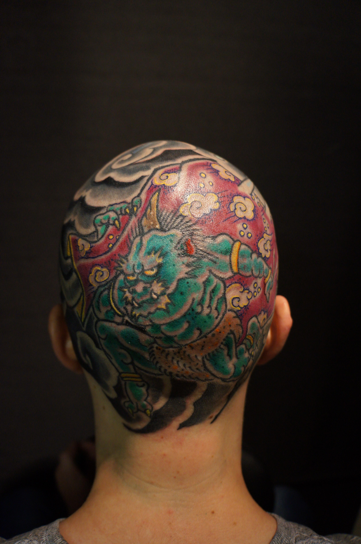 Roddy mclean roddy mclean tattooer for Full head tattoo